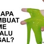 Kenapa membuat slime selalu gagal?
