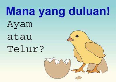 Mengungkap Misteri Ayam atau Telur Mana Yang Duluan