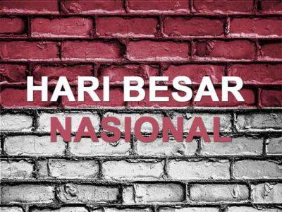 Hari hari Nasional Beserta Tanggalnya Dalam Bahasa Indonesia dan Inggris