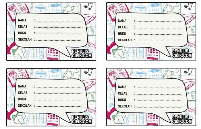 Cara Membuat Stiker Label Nama Bergambar