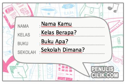 Format label buku bergambar