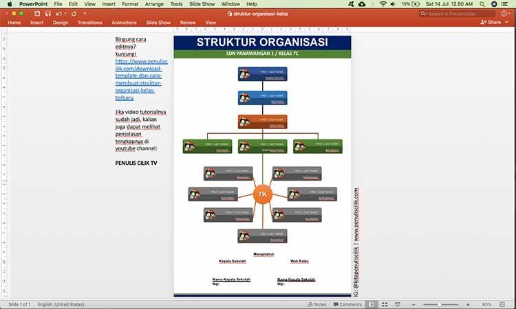 download template cara membuat struktur organisasi kelas terbaru Bagan Struktur Organisasi Perusahaan struktur organisasi kelas sd
