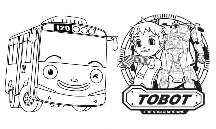 26 Gambar Mewarnai Terbaru Untuk Anak Tk Paud Sd Tayo Tobot Dll Penulis Cilik