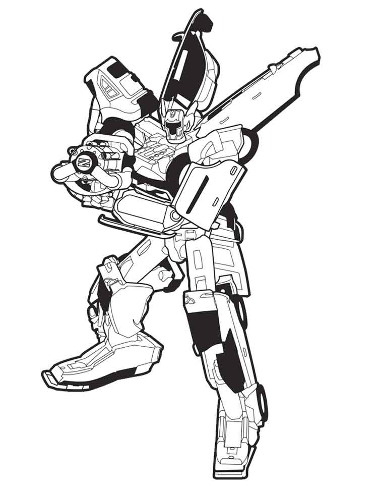 contoh gambar mewarnai robot