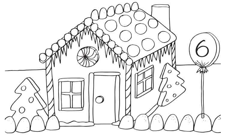 Gambar Rumah Hitam Putih Untuk Diwarnai