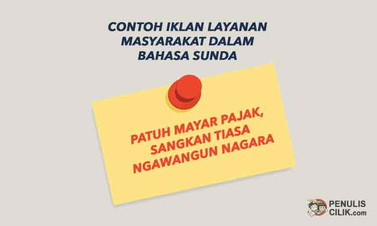 5 Contoh Iklan Layanan Masyarakat Dalam Bahasa Sunda Penulis Cilik