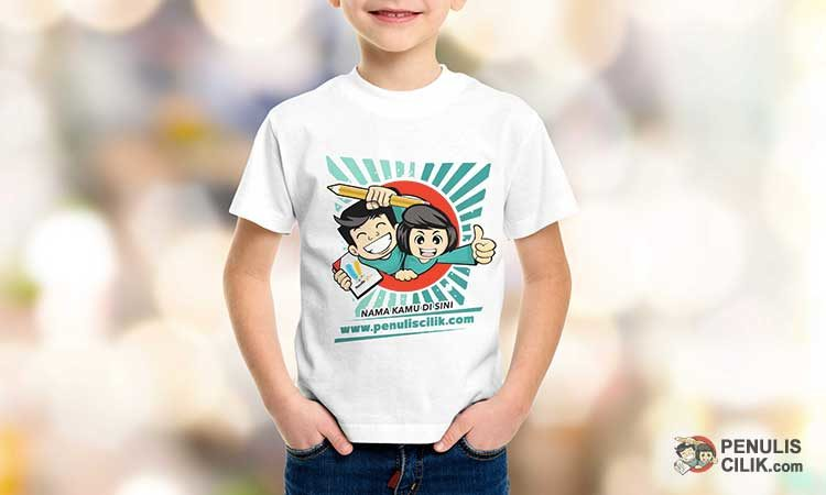 Kaos anak penulis cilik