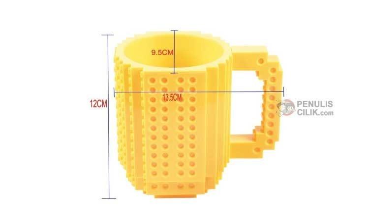 Ukuran mug lego