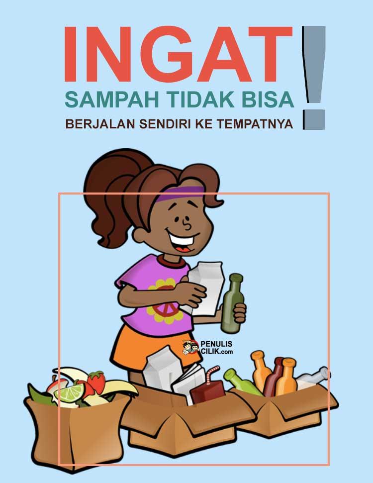 Gambar Poster Lingkungan Sekolah Mau Penulis Cilik