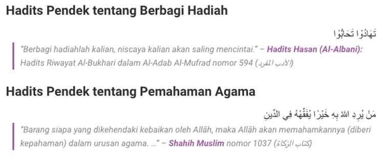 Perbedaan Hadis dan Sunnah, jelaskan! - Penulis Cilik