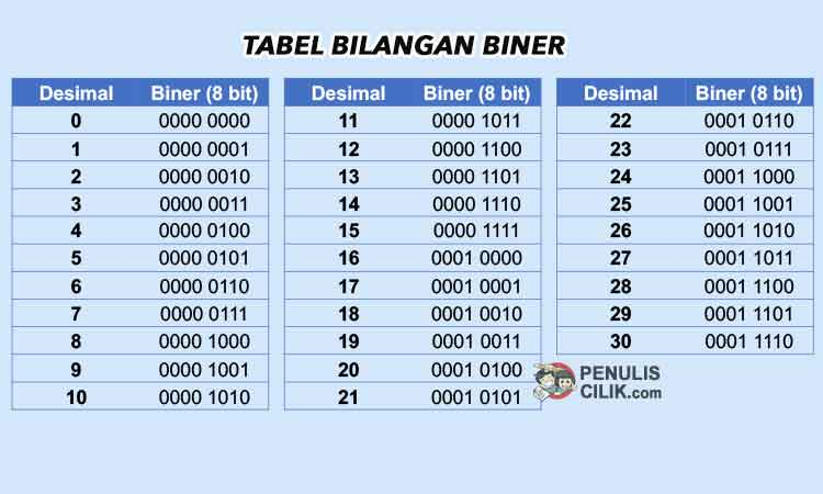 fungsi bilangan biner dalam komputer