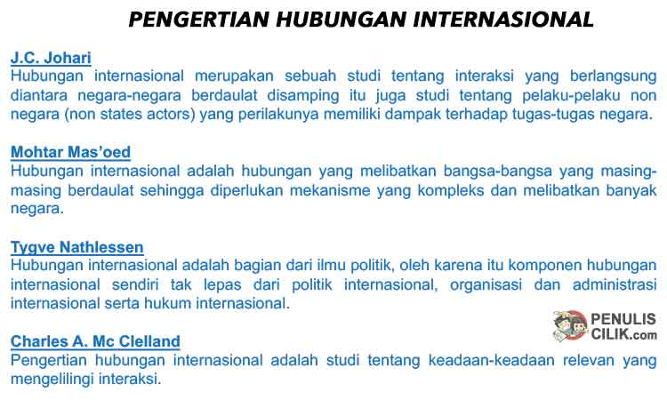 Pengertian Hubungan Internasional, Jelaskan! - Penulis Cilik