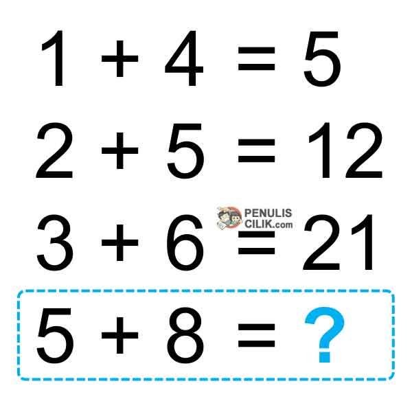 Teka Teki Matematika Bergambar Sulit Dan Jawabannya Penulis Cilik