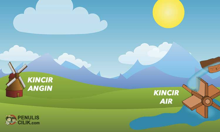 Perbedaan Kincir Angin Dan Kincir Air Jelaskan Penulis Cilik