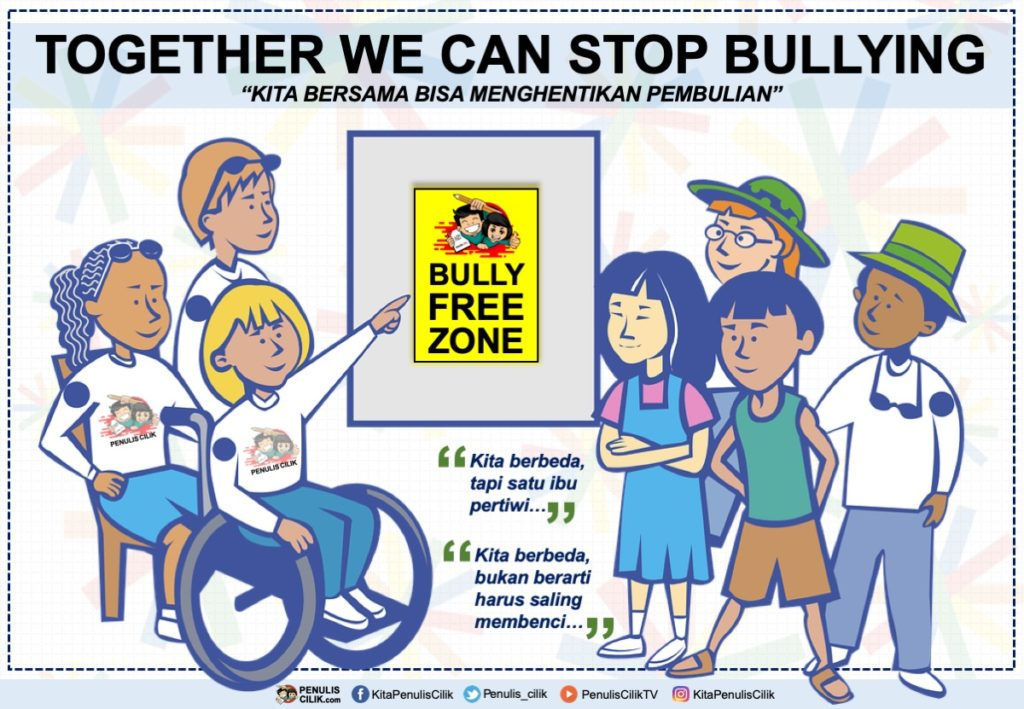 Poster Stop Bullying Dan Slogan Anti Bullying Bahasa Indonesia Penulis Cilik